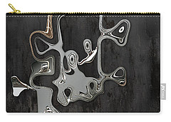 Carry-all Pouch featuring the digital art Abstrait En Sol Majeur  by Variance Collections