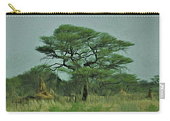 Acacia Tree And Termite Hills Carry-all Pouch by Ernie Echols