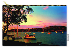 Carry-all Pouch featuring the photograph  Acadia Bar Harbor Sunset Cruises by Tom Jelen