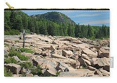 Carry-all Pouch featuring the photograph Acadia Coastline by Living Color Photography Lorraine Lynch