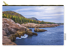 Carry-all Pouch featuring the photograph Acadia's Coast by Chad Dutson