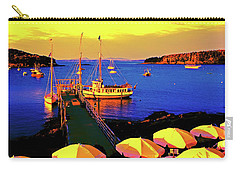 Carry-all Pouch featuring the photograph Acaida  Bar Harbor  Pier by Tom Jelen
