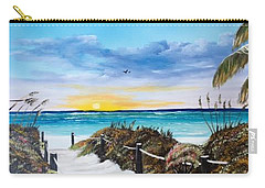 Access The Siesta Key Sunset Carry-all Pouch
