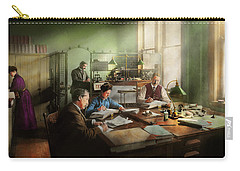 Carry-all Pouch featuring the photograph Accountant - The- Bookkeeping Dept 1902 by Mike Savad