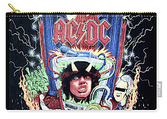 Carry-all Pouch featuring the digital art Acdc by Gina Dsgn