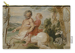 Achilles Educated By The Centaur Chiron Carry-all Pouch by Peter Paul Rubens