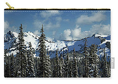 Carry-all Pouch featuring the photograph Across From Mt Rainier by Mary Jo Allen