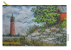 Carry-all Pouch featuring the painting Across The Bay by Jim Phillips