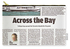 Carry-all Pouch featuring the painting Toronto Sun Article Across The Bay by Kenneth M Kirsch