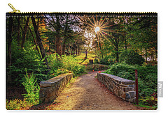 Carry-all Pouch featuring the photograph Across The Bridge by Rick Berk