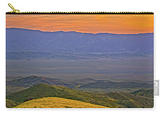 Across The Carrizo Plain At Sunset Carry-all Pouch