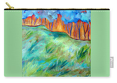 Across The Meadow Carry-all Pouch by Elizabeth Fontaine-Barr
