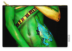 Carry-all Pouch featuring the painting acrylic on FLESH by Tbone Oliver