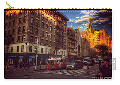 Action On The Upper West Carry-all Pouch by Miriam Danar