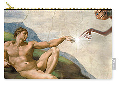 Carry-all Pouch featuring the digital art Adam's Creation Vrs Et by Gina Dsgn