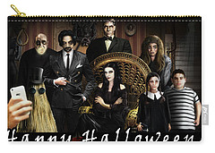 Addams Halloween Greeting Card Carry-all Pouch by Alessandro Della Pietra
