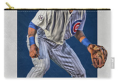 Addison Russell Chicago Cubs Art 2 Carry-all Pouch by Joe Hamilton