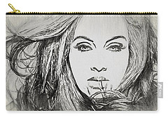 Adele Charcoal Sketch Carry-all Pouch by Dan Sproul