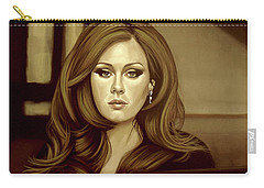 Adele Gold Carry-all Pouch