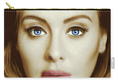 Adele Painting Circle Pattern 2 Carry-all Pouch by Tony Rubino