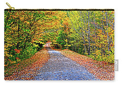 Adirondack Autumn Road Carry-all Pouch by Diane E Berry