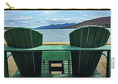 Carry-all Pouch featuring the photograph Adirondack Chair For Two by Kendall McKernon
