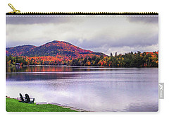Adirondack Chairs In The Adirondacks. Mirror Lake Lake Placid Ny New York Mountain Carry-all Pouch