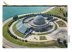 Carry-all Pouch featuring the photograph Adler Planetarium Aerial by Adam Romanowicz