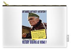 Admiral William Bull Halsey -- Ww2 Propaganda  Carry-all Pouch