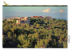 Carry-all Pouch featuring the photograph Adobe Homestead Santa Fe by Diana Mary Sharpton