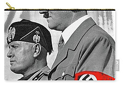 Adolf Hitler And Fellow Fascist Dictator Benito Mussolini October 26 1936 Number Three Color Added  Carry-all Pouch