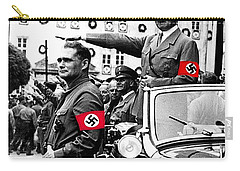 Adolf Hitler Giving The Nazi Salute From A Mercedes #3 C. 1934-2015 Carry-all Pouch by David Lee Guss