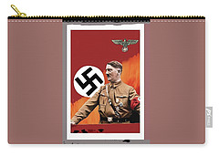 Adolf Hitler In Color With Nazi Symbols Unknown Date Additional Color Added 2016 Carry-all Pouch
