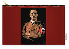 Adolf Hitler Painting Circa  1940 Color Added 2016 Carry-all Pouch