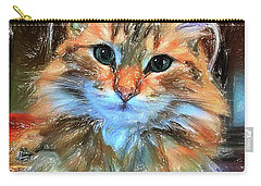 Carry-all Pouch featuring the painting Adopted by Chris Armytage