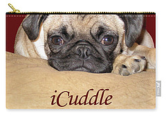 Adorable Icuddle Pug Puppy Carry-all Pouch by Patricia Barmatz