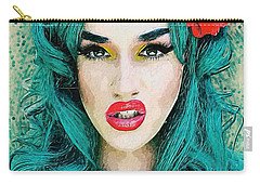 Carry-all Pouch featuring the digital art Adore Delano by Taylan Apukovska