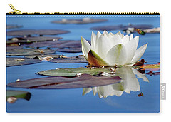 Carry-all Pouch featuring the photograph Adoring White by Amee Cave