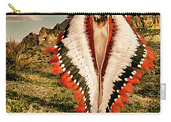 Adorned Feathered Nude Carry-all Pouch