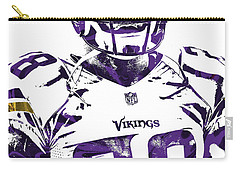 Carry-all Pouch featuring the mixed media Adrian Peterson Minnesota Vikings Pixel Art 2 by Joe Hamilton