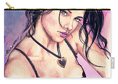Adriana Lima Carry-all Pouch by Alban Dizdari
