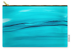 Carry-all Pouch featuring the painting Adrift In A Sea Of Blues Abstract by Nikki Marie Smith