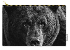 Carry-all Pouch featuring the photograph Adult Male Black Bear by Coby Cooper