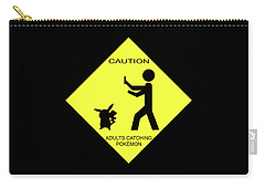 Carry-all Pouch featuring the digital art Adults Catching Pokemon 2 by Shane Bechler