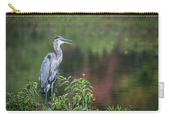 Carry-all Pouch featuring the photograph Advice From A Great Blue Heron by Cindy Lark Hartman