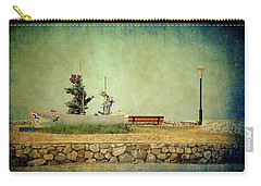 Carry-all Pouch featuring the photograph Aegean Sea Composition by Milena Ilieva