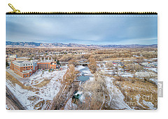 aerial cityscape of Fort Collins Carry-all Pouch