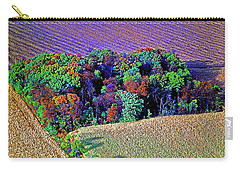 Carry-all Pouch featuring the photograph Aerial Farm Tree Top Grove  by Tom Jelen