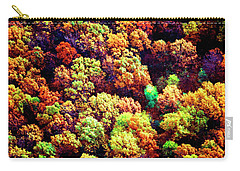 Carry-all Pouch featuring the photograph Aerial Farm Tree Tops Fall Ff by Tom Jelen
