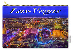 Aerial Las- Vegas Evening Carry-all Pouch
